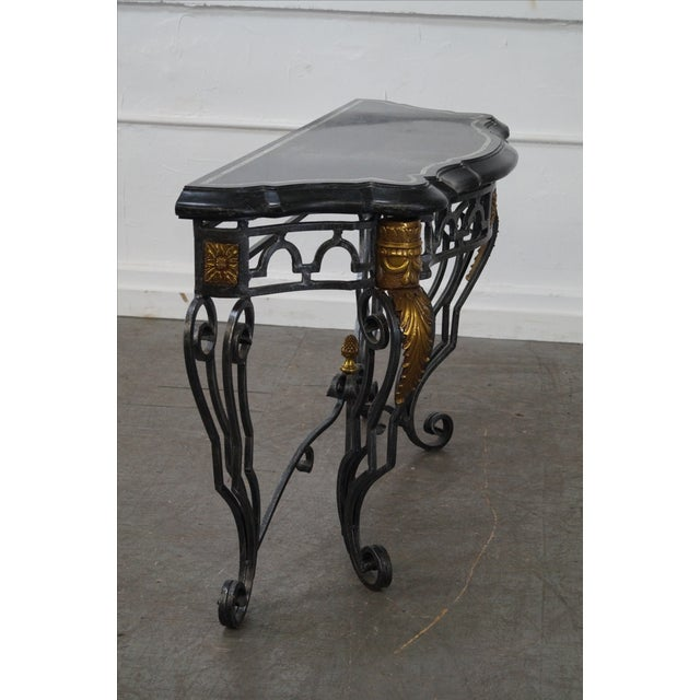Maitland Smith Marble Top Regency Console Table - Image 5 of 10