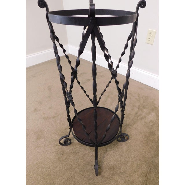 Aesthetic Antique Hand Wrought Iron Umbrella Stand For Sale - Image 12 of 13