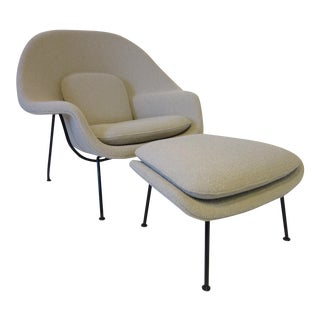 Eero Saarinen Womb Chair and Ottoman by Knoll - 2 pieces For Sale