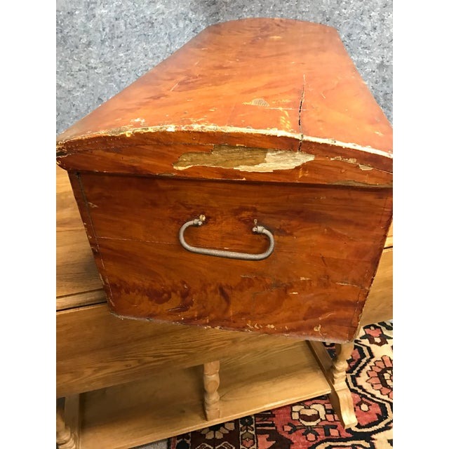 Wood French Barrel Top Chest For Sale - Image 7 of 7