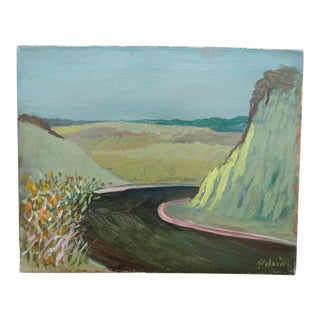 """1940s """"Route 336"""" Oil Painting by Anders Aldrin For Sale"""