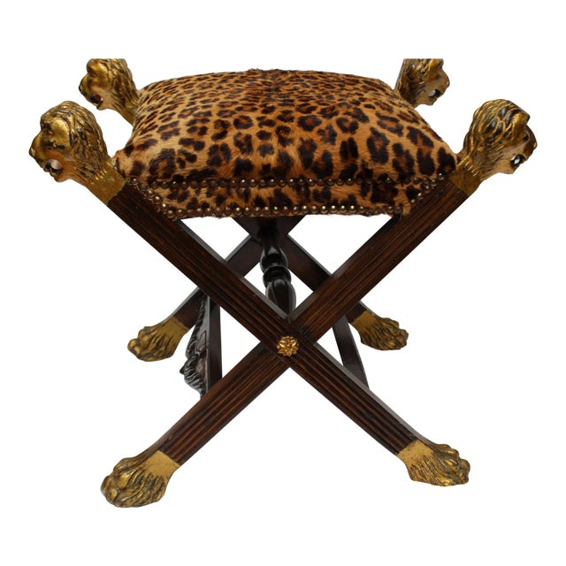 19th C. Italian Provenance Baroness Margarita Von Soosten Stool For Sale