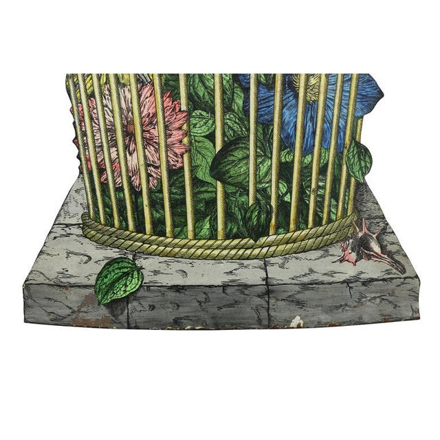 Country Fornasetti Tole Umbrella Stand For Sale - Image 3 of 7