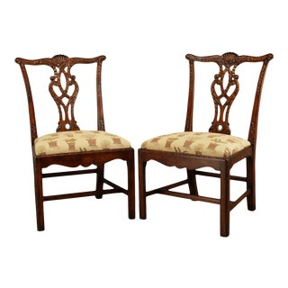 Theodore Alexander Chippendale Style Carved Mahogany Side Chairs - a Pair For Sale