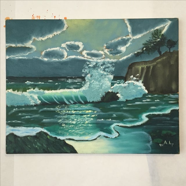 Ocean Acrylic Painting - Image 2 of 9