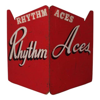 Art Deco Painted Wood Bandstand Rhythm Aces from 1930s-1940s For Sale