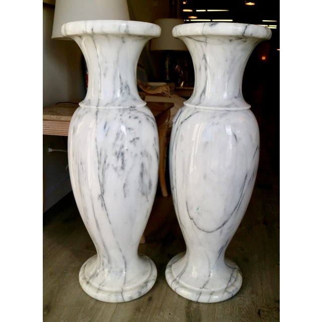 Vintage Marble Vases A Pair Chairish