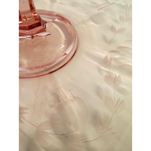 Pink Cut Glass Hollywood Regency Candy Tray - Image 10 of 10