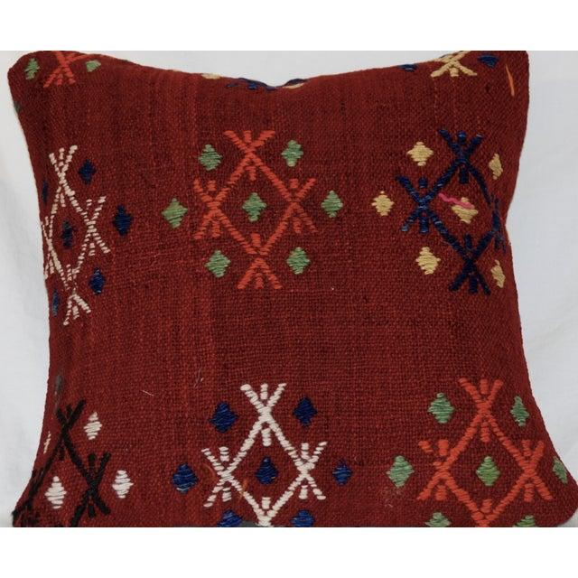 Boho Chic Vintage Handmade Wool Decorative Boho Pillow For Sale - Image 3 of 7