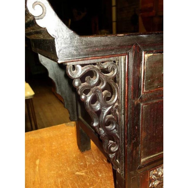 Asian Chinese Altar Coffer Cabinet For Sale - Image 6 of 11