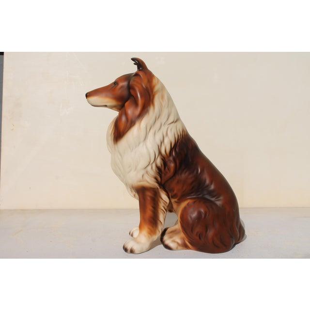 Mid-Century Glazed Ceramic Dog Sculpture For Sale In Miami - Image 6 of 12