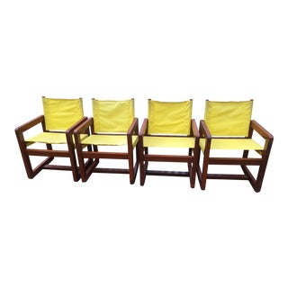 California Redwood Mid-Century Patio Chairs - Set 4