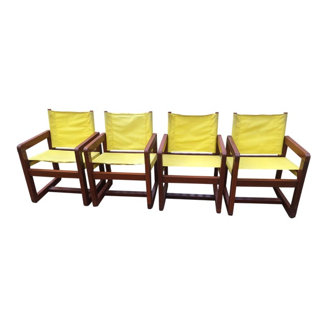 California Redwood Mid-Century Patio Chairs - Set 4 For Sale
