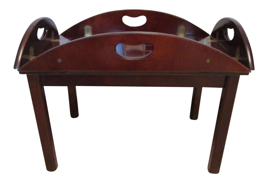 Wood Butler Tray Table