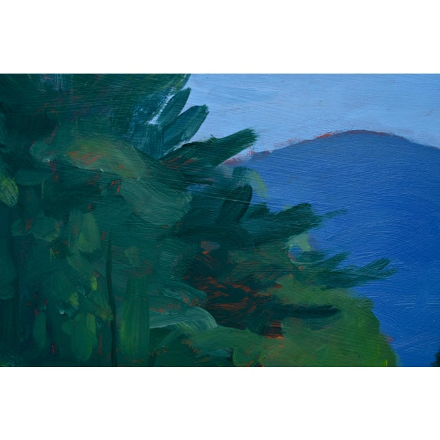 "Contemporary Stephen Remick ""Vermont Gravel Road With Blue Mountain"" Contemporary 2010s Landscape Painting For Sale - Image 3 of 10"