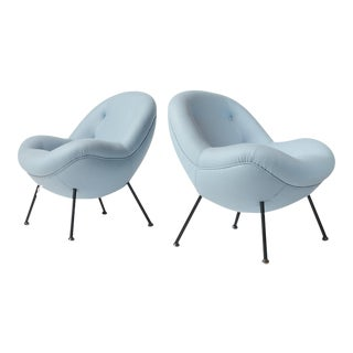 "Pair of ""Egg"" Chairs by Fritz Neth For Sale"