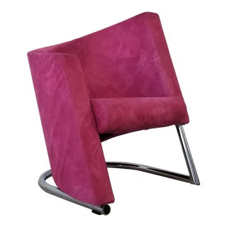 Italian Postmodern Asymmetric Club Lounge Chair For Sale