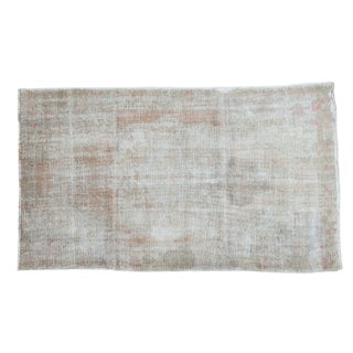 "Distressed Oushak Rug - 4'4"" X 7'5"" For Sale"