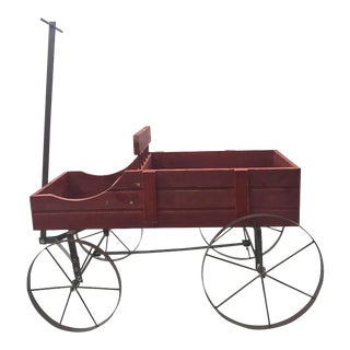 Vintage Red Wagon Planter