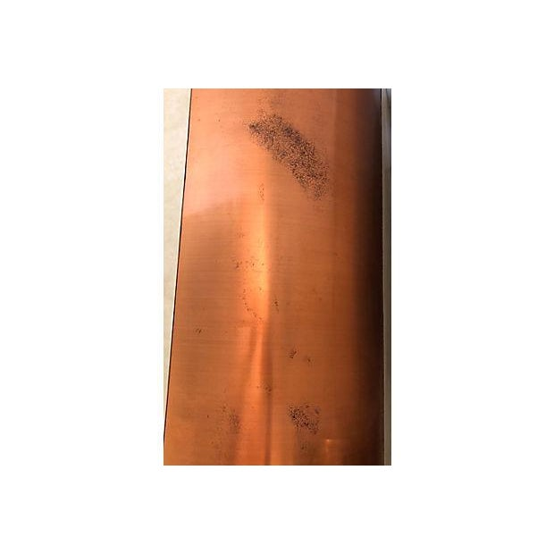 Faux Leather And Copper 1970's Desk For Sale - Image 10 of 10