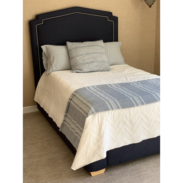 Contemporary Serena and Lilly Full Size Upholstered Bed For Sale - Image 3 of 10