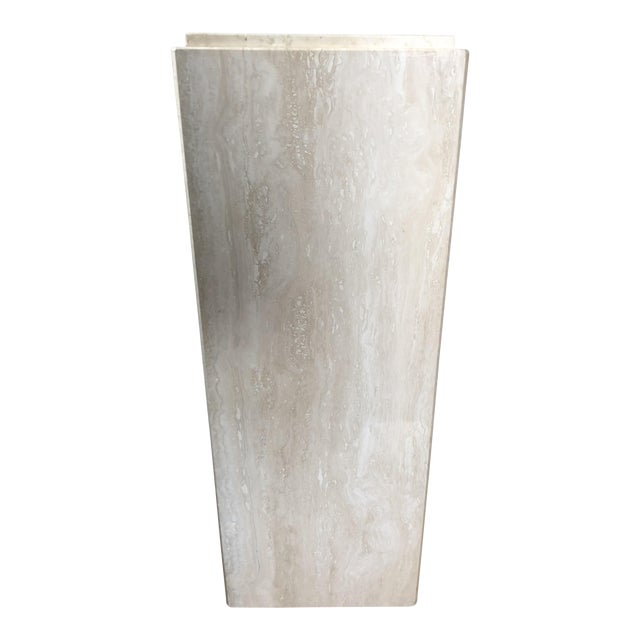 Vintage Travertine Pedestal For Sale