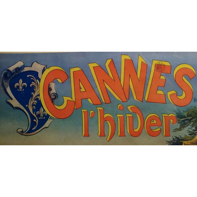 19th Century Original 1892 Cannes L'Hiver, Casino Des Fleurs French Poster For Sale - Image 5 of 11