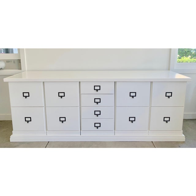 """82"""" Credenza features: Generous 81""""W work surface File Storage Cabinets have full-extension glides Dimensions: Overall:..."""
