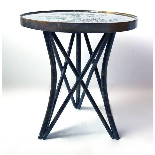 Philip and Kelvin LaVerne Philip and Kelvin LaVerne 'Still Life' Side Table in Patinated Bronze For Sale - Image 4 of 10