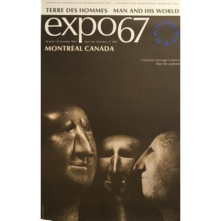 Rare, Original Expo 67 Montreal Poster, Sculpture For Sale