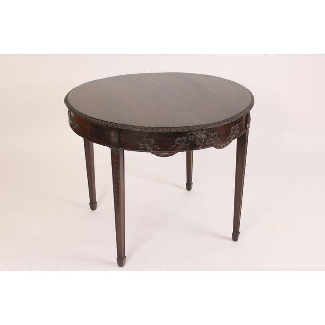 English Neo Classical Style Mahogany Center Table For Sale - Image 13 of 13