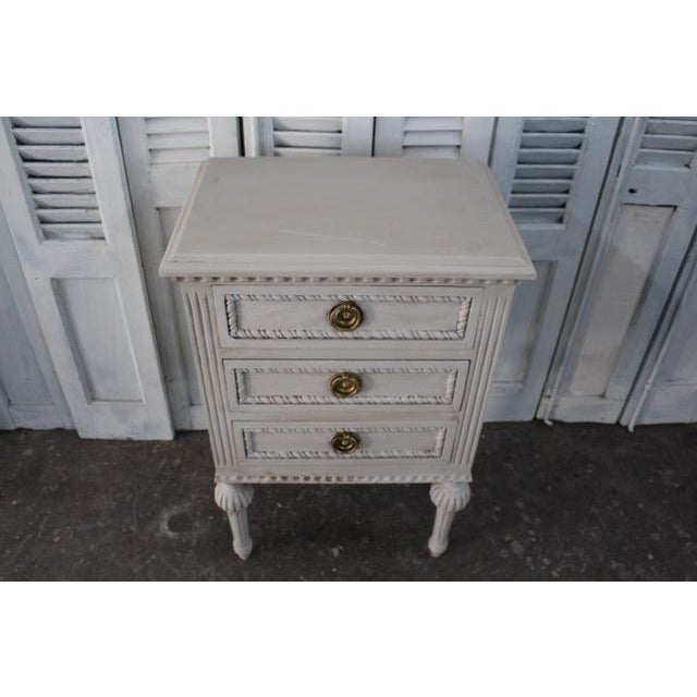 Mid 20th Century 20th Century Swedish Gustavian Style Nightstands - A Pair For Sale - Image 5 of 13