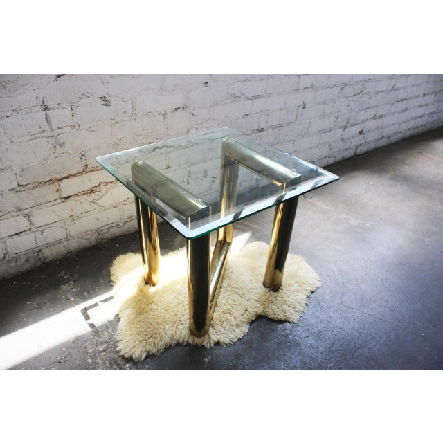 Pace Brass and Glass Side Table - Image 3 of 7