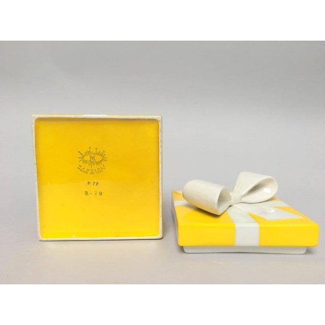 Mancioli Italy Yellow Porcelain Covered Gift Box - Image 8 of 11