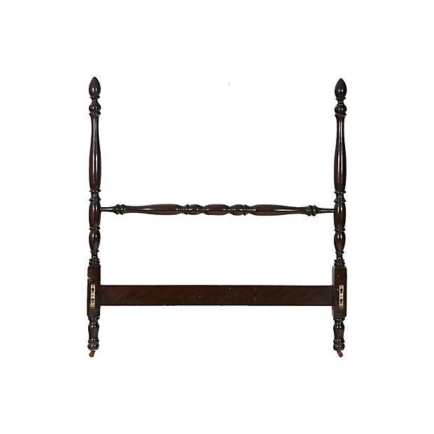 Vintage Mahogany Twin Bed Frame For Sale - Image 4 of 8