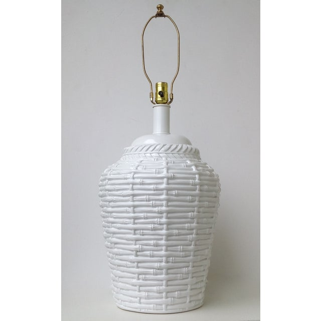 Faux Bamboo Large Bulbous Lamp - Image 2 of 10