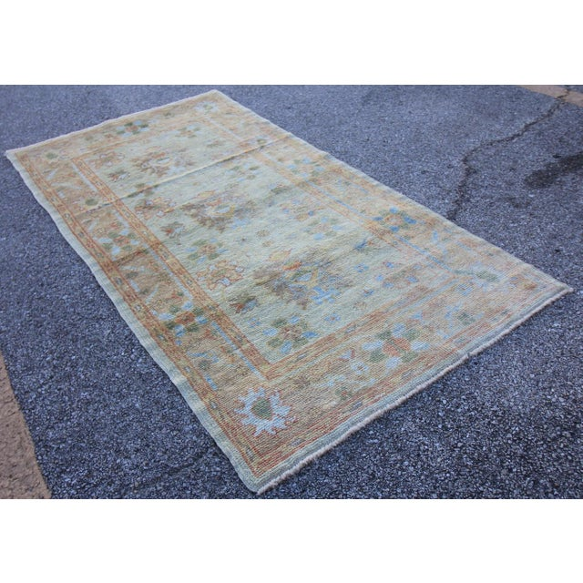 New Oushak Turkish Rug With Soft Colors - 3'5 X 6'6 - Image 3 of 5