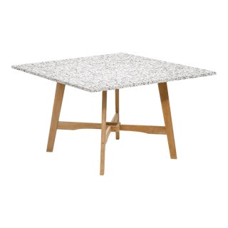 Wooden Outdoor Dining Table, Natural and Ash For Sale