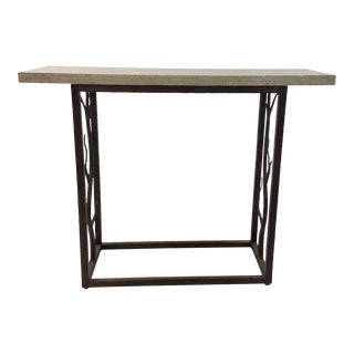 Currey & Co. Modern Iron and Concrete Branch Console Table For Sale