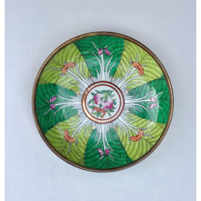 Asian Famille Rose Verte Bowl Catchall For Sale - Image 3 of 5