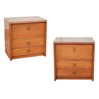 Paul Frank for John Stuart Mid-Century Modern Nightstands - a Pair For Sale