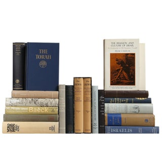 Vintage Jewish History Books, S/20 Custom Set For Sale