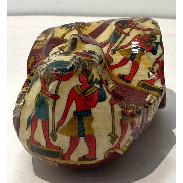Textile Vintage King Tut Egypt Figurine For Sale - Image 7 of 9