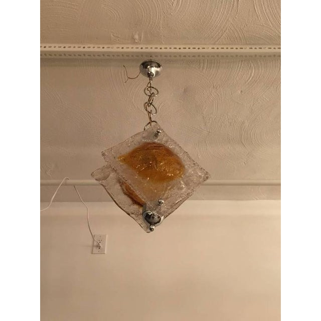 Italian Italian Mazzega Murano Chandelier For Sale - Image 3 of 5