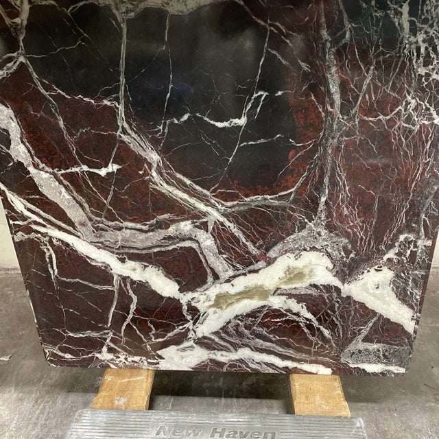 Monumental Marble Dining or Desk Table For Sale - Image 4 of 13