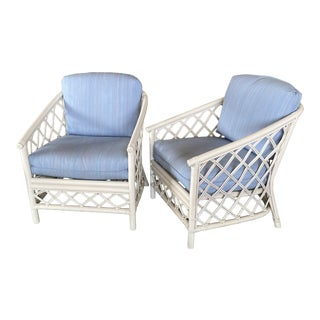 Vintage Coastal Ficks Reed Chairs-A Pair For Sale