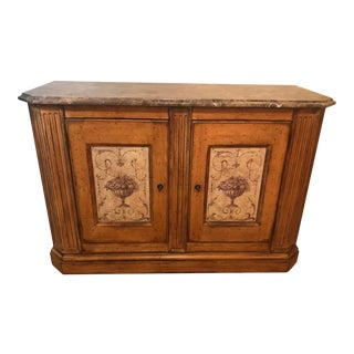 1990s Vintage Marble Top Credenza For Sale