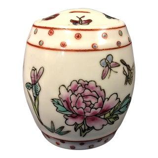 1900s Asian White China Ginger Jar