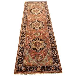 Shiraz - Geometric Indo Serapi Runner - 2′7″ × 7′11″ For Sale