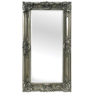 Mayfair Antique Silver Leaner Mirror For Sale